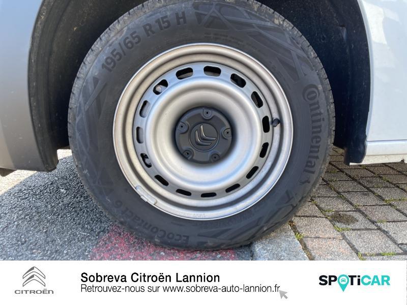 Citroen Berlingo M 650kg BlueHDi 100 S&S Driver Blanc occasion à LANNION - photo n°11