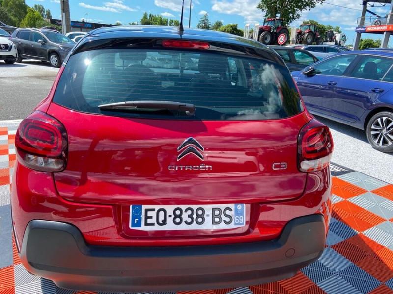 Citroen C3 BlueHDi 100 SHINE GPS Toit Panoramique Caméra Rouge occasion à Lescure-d'Albigeois - photo n°6