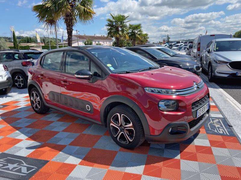 Citroen C3 BlueHDi 100 SHINE GPS Toit Panoramique Caméra Rouge occasion à Lescure-d'Albigeois - photo n°10