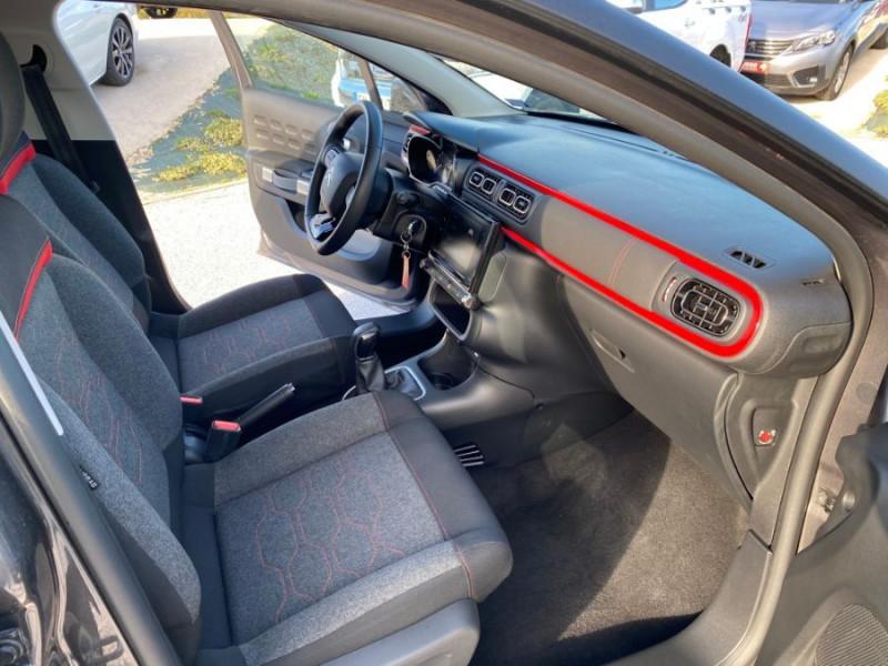 Citroen C3 PureTech 83 FEEL GPS Airbumps Toit Noir Gris occasion à Cahors - photo n°14