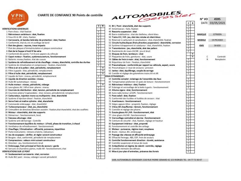 Citroen C4 Picasso 5 Places 1.6 BlueHDi - 120 S&S - BV EAT6 MONOSPACE Business PHASE 2 Gris occasion à Riorges - photo n°2