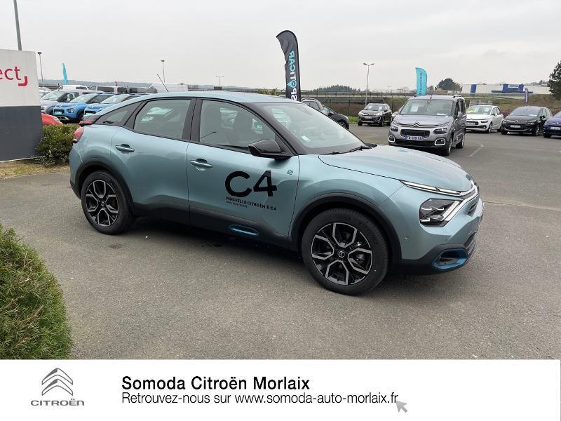 Citroen C4 Moteur électrique 136ch (100 kW) Feel Pack Automatique Bleu occasion à MORLAIX - photo n°4