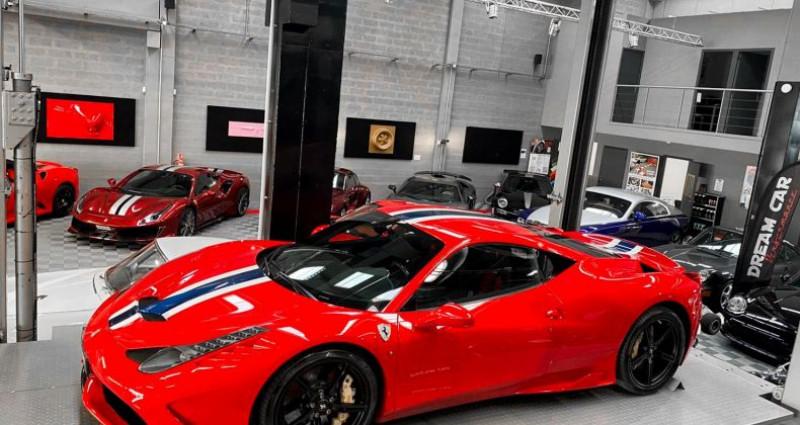 Ferrari 458 FERRARI 458 SPECIALE - PREMIERE MAIN FRANCAISE Rouge occasion à SAINT LAURENT DU VAR