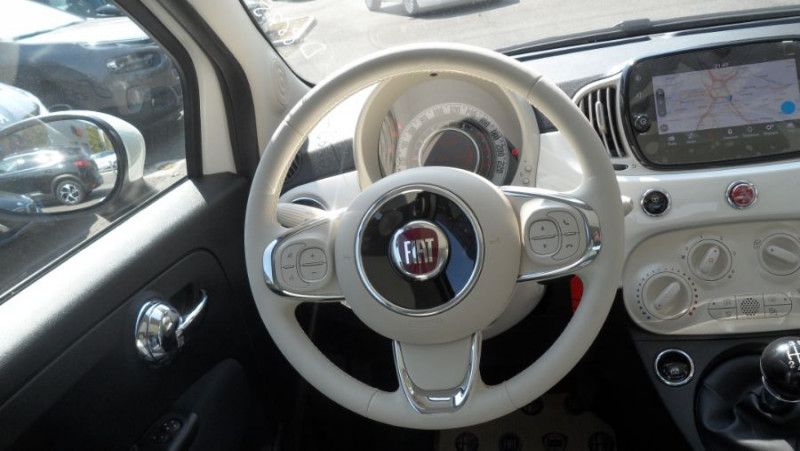 Fiat 500 (SERIE 8) Hybrid 1.0 BSG 70 LOUNGE GPS Toit Pano. Radars Rec Blanc occasion à Toulouse - photo n°15