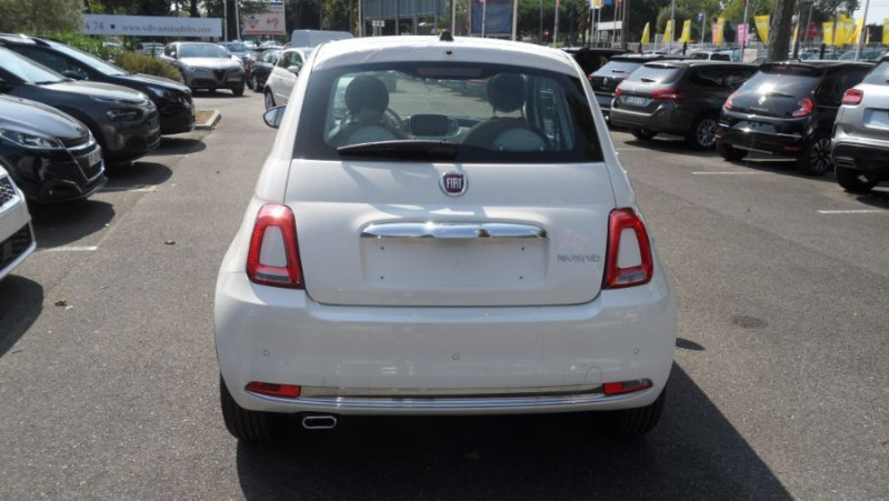 Fiat 500 (SERIE 8) Hybrid 1.0 BSG 70 LOUNGE GPS Toit Pano. Radars Rec Blanc occasion à Toulouse - photo n°4
