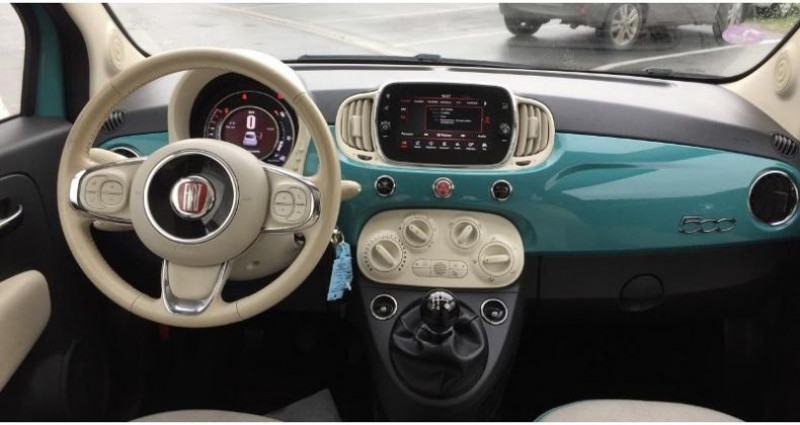 Fiat 500 1.2 8v 69ch Anniversario Vert occasion à SAINT OUEN L'AUMONE - photo n°6