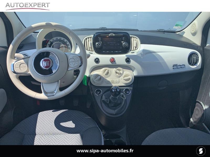 Fiat 500 1.2 8v 69ch Popstar Blanc occasion à Villenave-d'Ornon - photo n°3