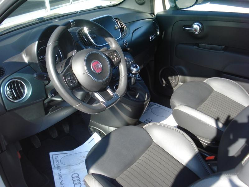 Fiat 500 1.2 8v 69ch S&S Rockstar Blanc occasion à Aurillac - photo n°11