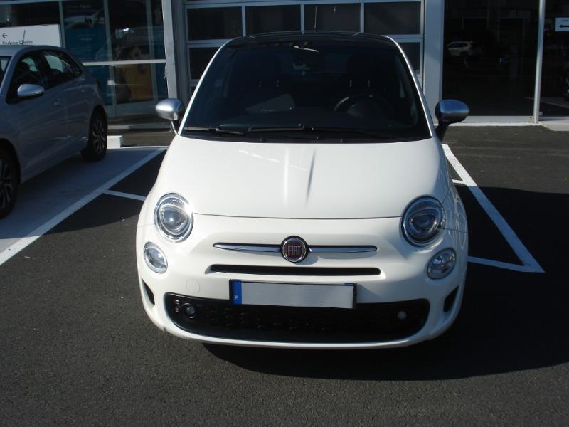 Fiat 500 1.2 8v 69ch S&S Rockstar Blanc occasion à Aurillac - photo n°2