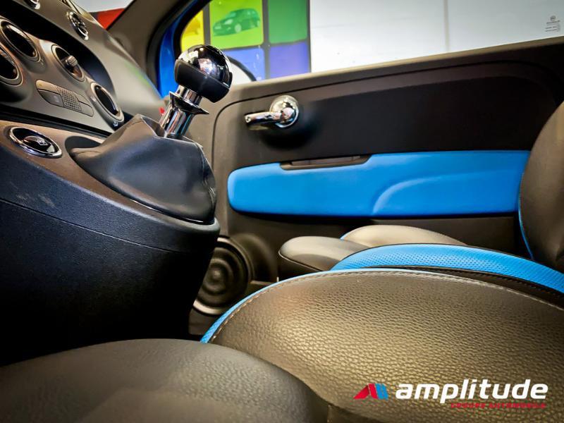 Fiat 500 1.2 8v 69ch S Bleu occasion à Dijon - photo n°20