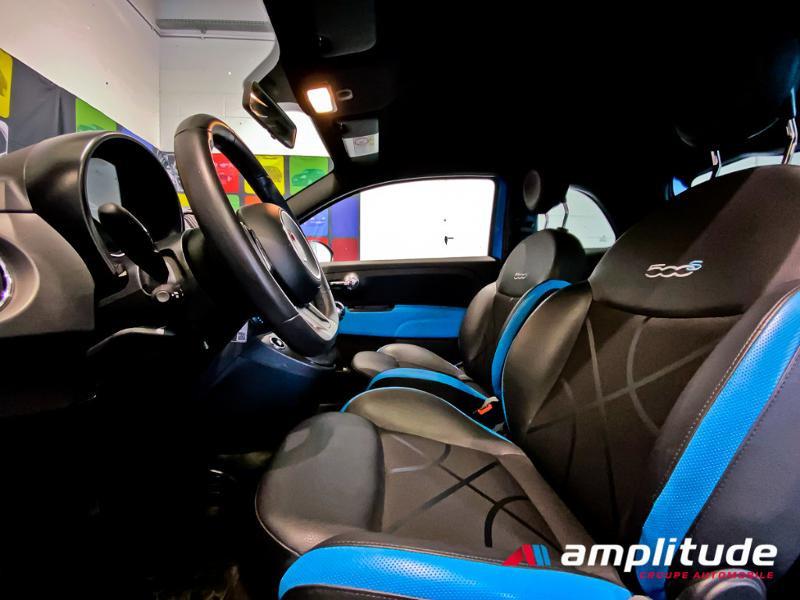 Fiat 500 1.2 8v 69ch S Bleu occasion à Dijon - photo n°15