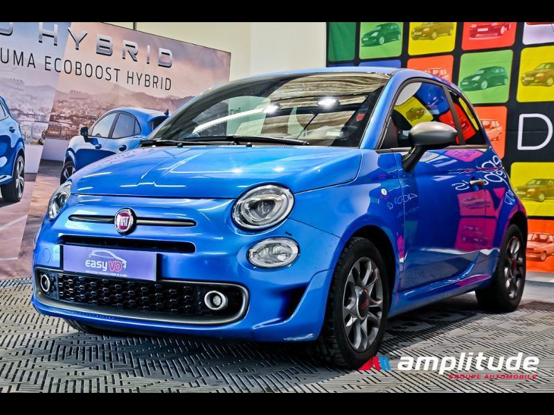 Fiat 500 1.2 8v 69ch S Bleu occasion à Dijon - photo n°3
