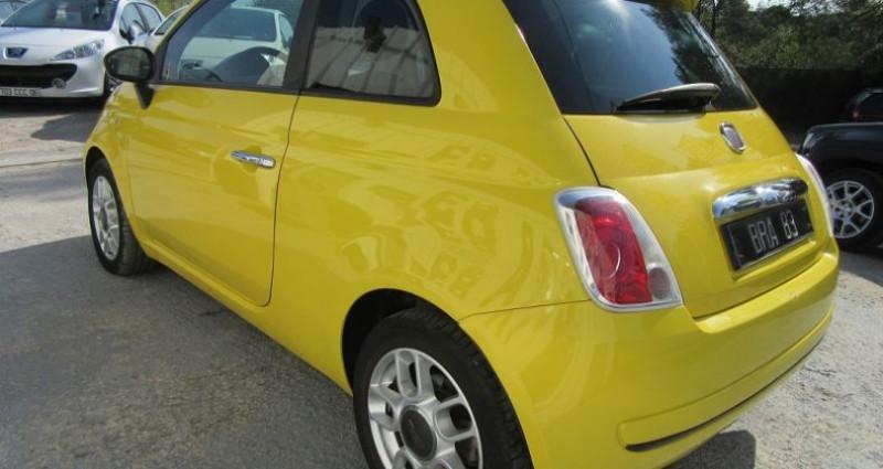Fiat 500 1.4 16V 100CH SPORT Jaune occasion à Le Muy - photo n°5