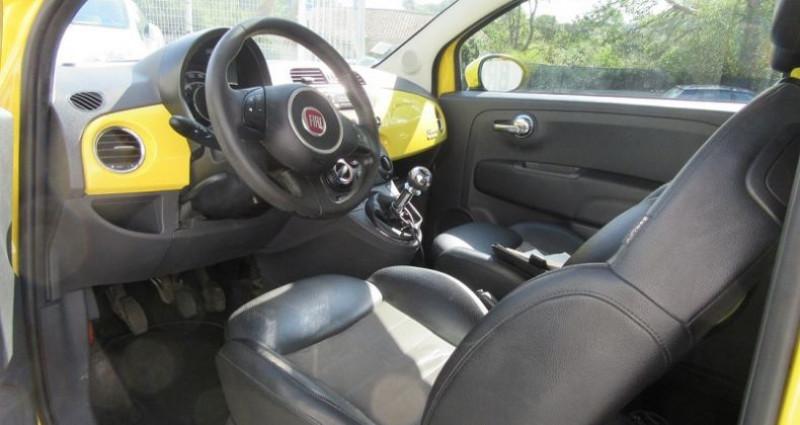 Fiat 500 1.4 16V 100CH SPORT Jaune occasion à Le Muy - photo n°6