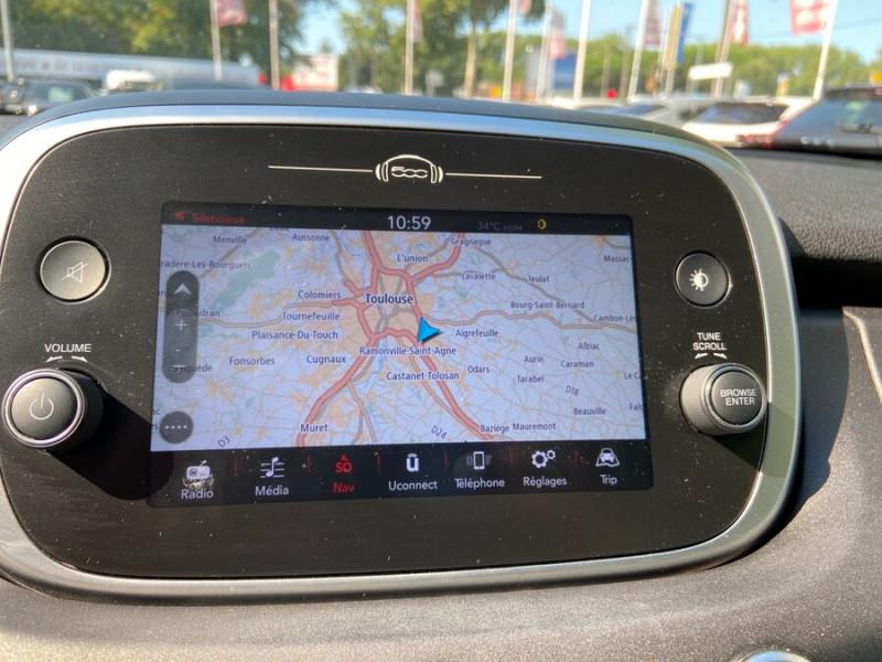 Fiat 500 1,4 MULTIAIR 140 DCT6 CROSS GPS Noir occasion à Toulouse - photo n°12
