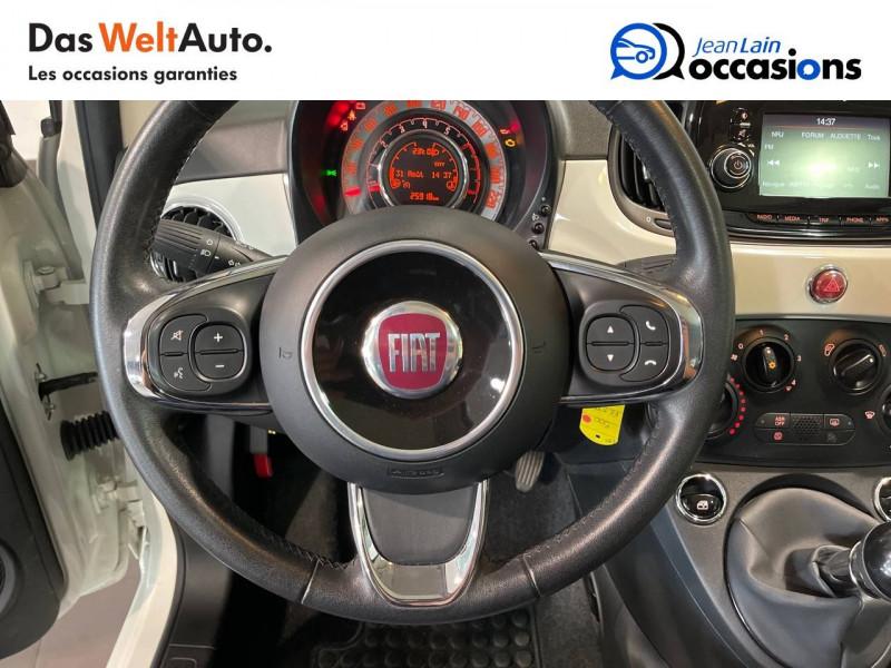 Fiat 500 500 1.2 69 ch Lounge 3p Blanc occasion à Seynod - photo n°12