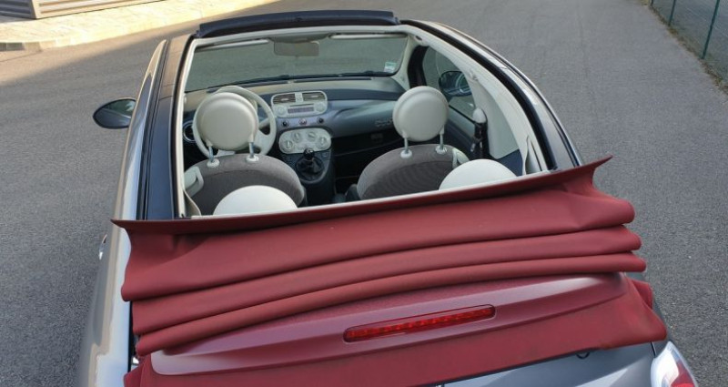 Fiat 500 c cabriolet ii 1.2 8v 69 lounge bv5 Gris occasion à AMILLY - photo n°5