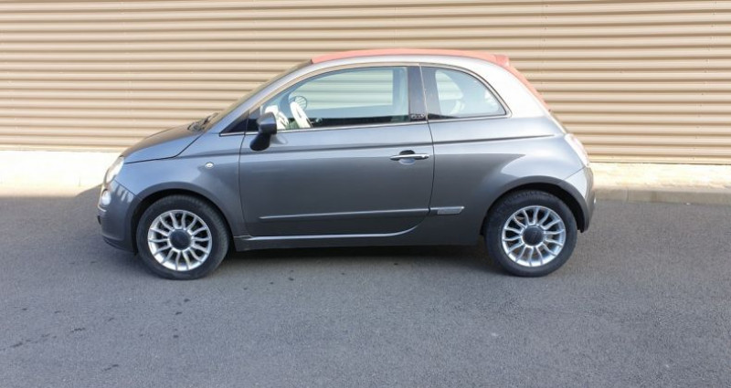 Fiat 500 c cabriolet ii 1.2 8v 69 lounge bv5 Gris occasion à AMILLY - photo n°4