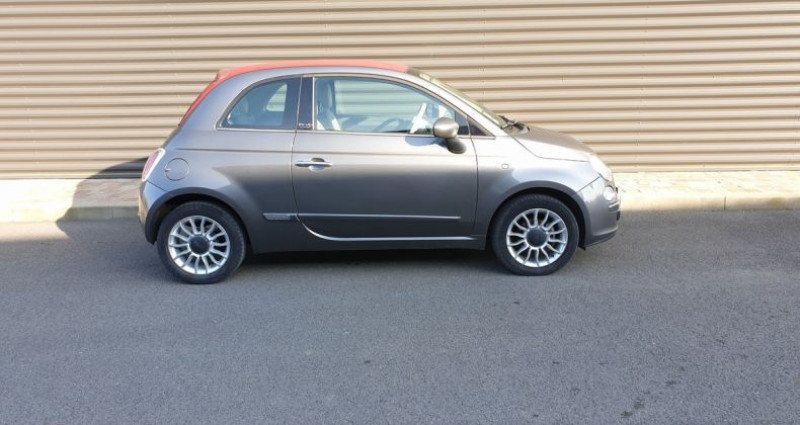 Fiat 500 c cabriolet ii 1.2 8v 69 lounge bv5 Gris occasion à AMILLY - photo n°3