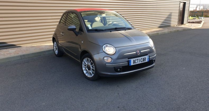 Fiat 500 c cabriolet ii 1.2 8v 69 lounge bv5 Gris occasion à AMILLY - photo n°2