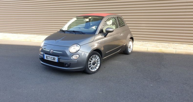 Fiat 500 c cabriolet ii 1.2 8v 69 lounge bv5 Gris occasion à AMILLY