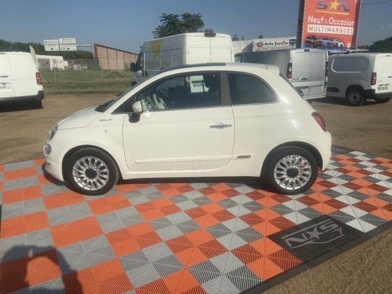 Fiat 500 Hybrid 1.0 BSG 70 DOLCEVITA Clim Auto Toit Pano. Radars Recu Blanc occasion à Toulouse - photo n°5