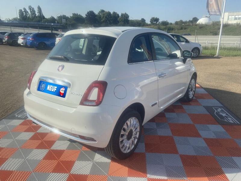 Fiat 500 Hybrid 1.0 BSG 70 DOLCEVITA Clim Auto Toit Pano. Radars Recu Blanc occasion à Toulouse - photo n°2