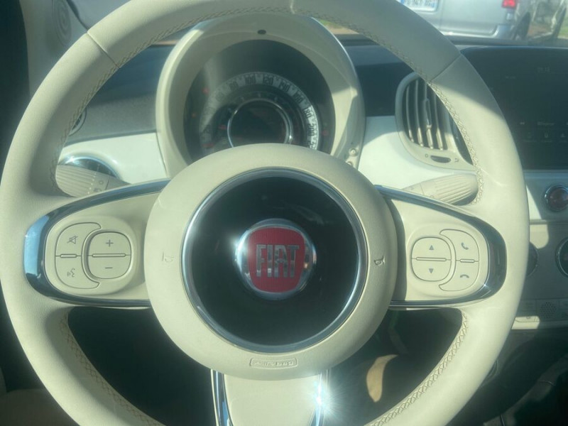 Fiat 500 Hybrid 1.0 BSG 70 DOLCEVITA Clim Auto Toit Pano. Radars Recu Blanc occasion à Toulouse - photo n°13