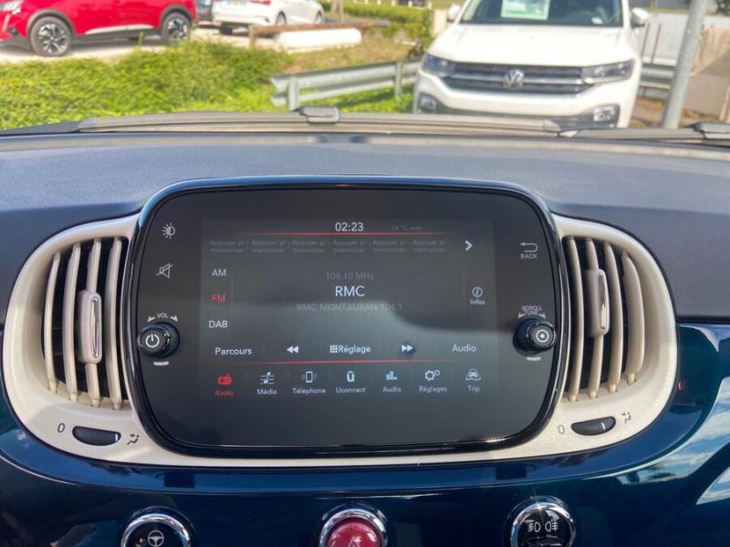 Fiat 500 Hybrid 1.0 BSG 70 DOLCEVITA Clim Auto Toit Pano. Radars Recu Bleu occasion à Montauban - photo n°14