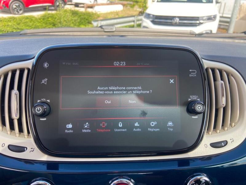 Fiat 500 Hybrid 1.0 BSG 70 DOLCEVITA Clim Auto Toit Pano. Radars Recu Bleu occasion à Montauban - photo n°13