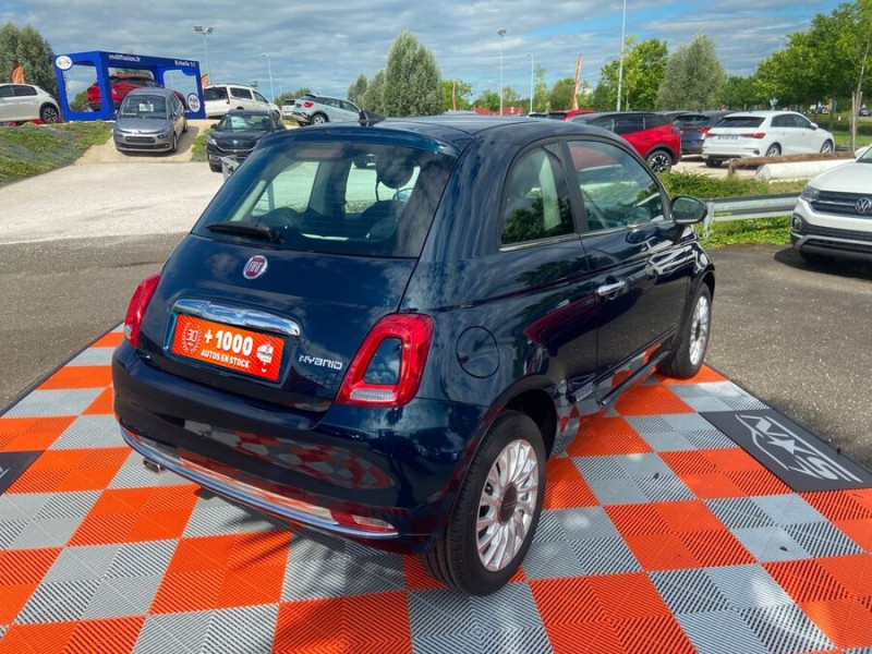Fiat 500 Hybrid 1.0 BSG 70 DOLCEVITA Clim Auto Toit Pano. Radars Recu Bleu occasion à Montauban - photo n°3