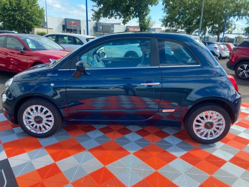 Fiat 500 Hybrid 1.0 BSG 70 DOLCEVITA Clim Auto Toit Pano. Radars Recu Bleu occasion à Montauban - photo n°4