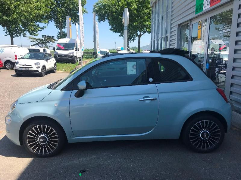 Fiat 500C 1.0 70CH LUNCH EDITION Vert occasion à Muret - photo n°3