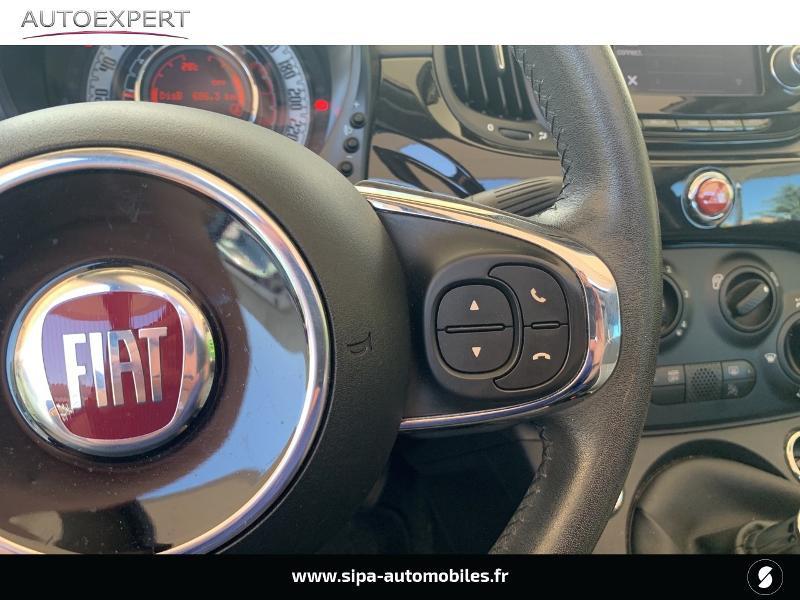 Fiat 500C 1.2 8v 69ch Lounge Noir occasion à Le Bouscat - photo n°17