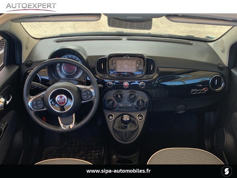 Fiat 500C 1.2 8v 69ch Lounge Noir occasion à Le Bouscat - photo n°3