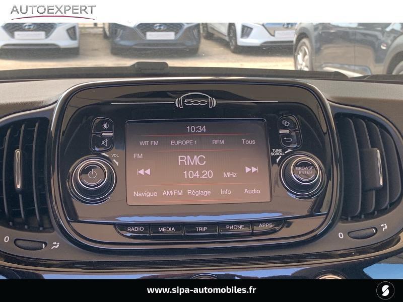Fiat 500C 1.2 8v 69ch Lounge Noir occasion à Le Bouscat - photo n°5