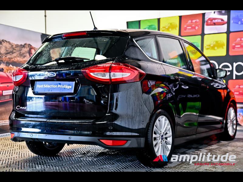 Ford C-Max 1.0 EcoBoost 125ch Stop&Start Titanium Euro6.2 Noir occasion à Dole - photo n°6