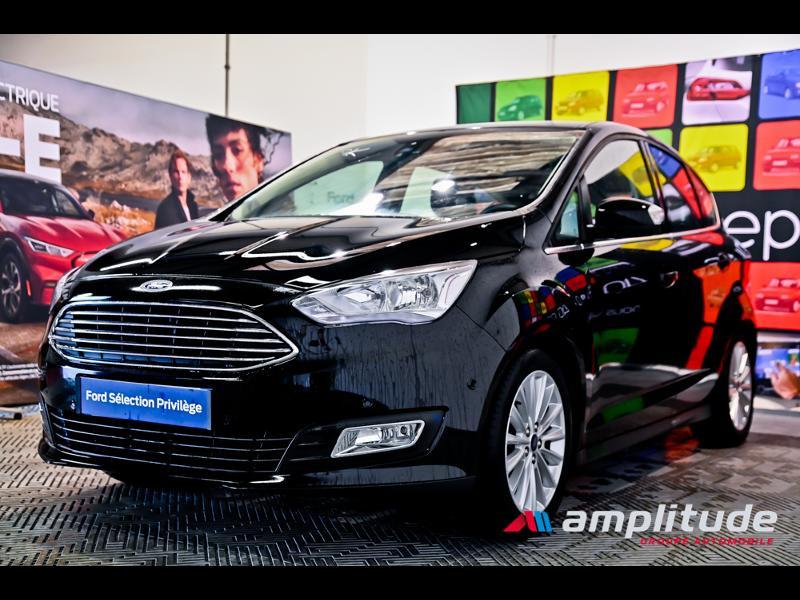 Ford C-Max 1.0 EcoBoost 125ch Stop&Start Titanium Euro6.2 Noir occasion à Dole - photo n°3