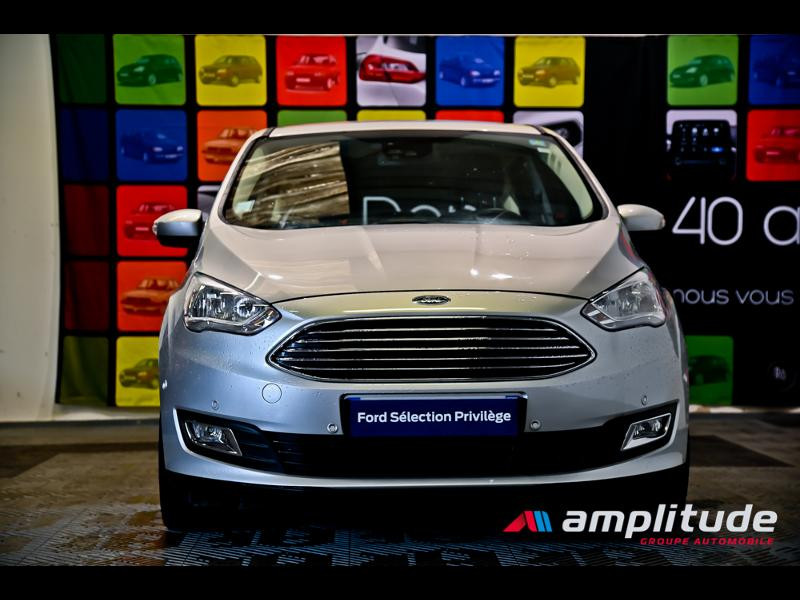 Ford C-Max 1.0 EcoBoost 125ch Stop&Start Titanium Euro6.2 Gris occasion à Dijon - photo n°2