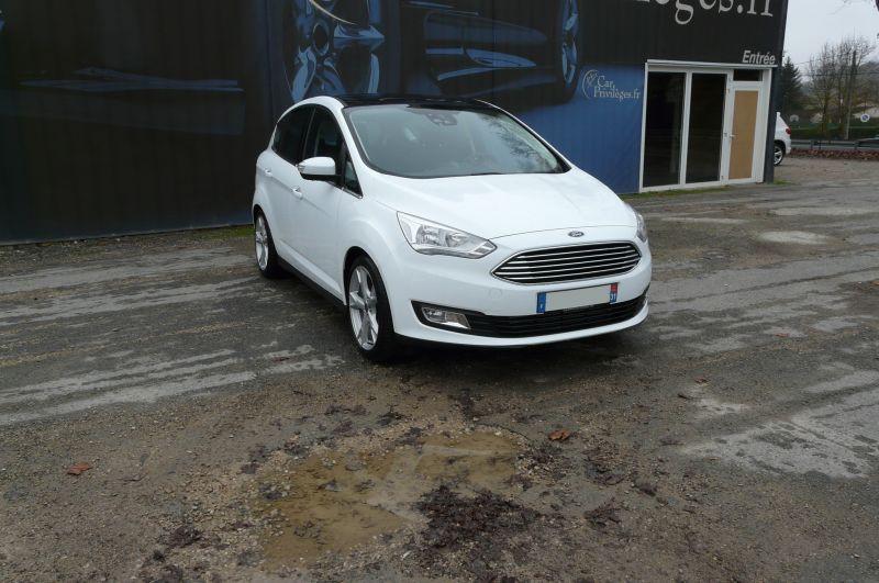 Ford C-Max 2.0 TDCI Titanium Blanc occasion à Beaupuy - photo n°3