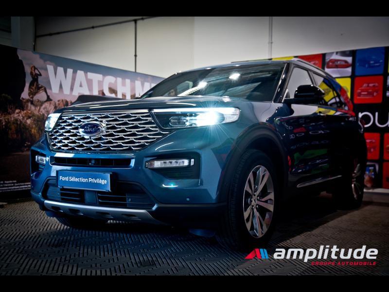 Ford Explorer 3.0 EcoBoost 457ch Parallel PHEV Platinum i-AWD BVA10 25cv Bleu occasion à Dijon