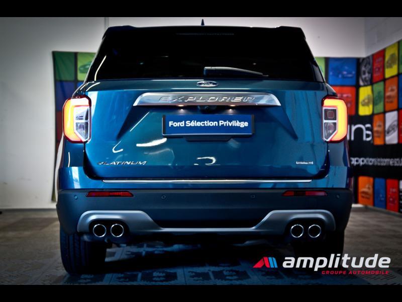 Ford Explorer 3.0 EcoBoost 457ch Parallel PHEV Platinum i-AWD BVA10 25cv Bleu occasion à Dijon - photo n°5