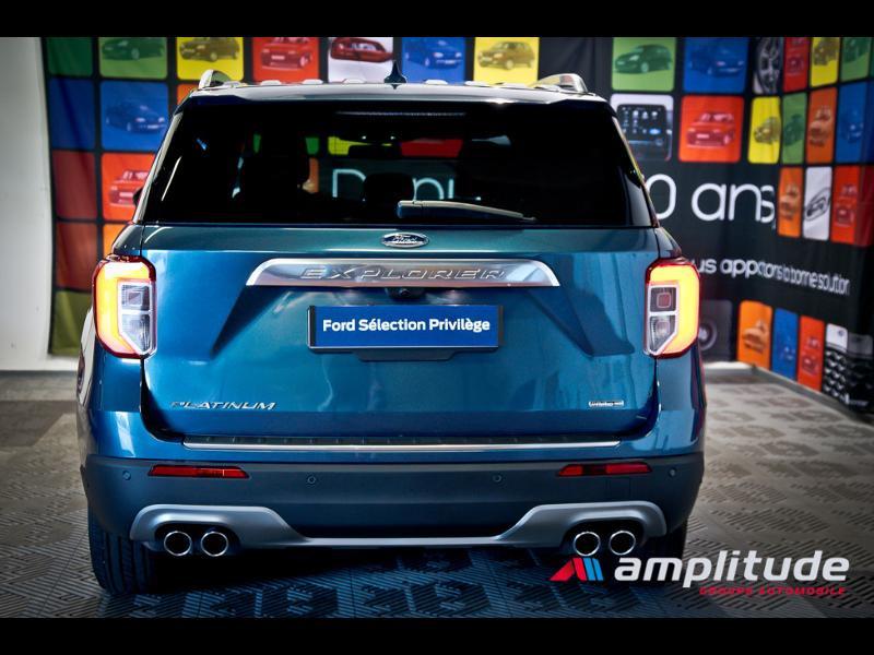 Ford Explorer 3.0 EcoBoost 457ch Parallel PHEV Platinum i-AWD BVA10 25cv Bleu occasion à Dijon - photo n°7