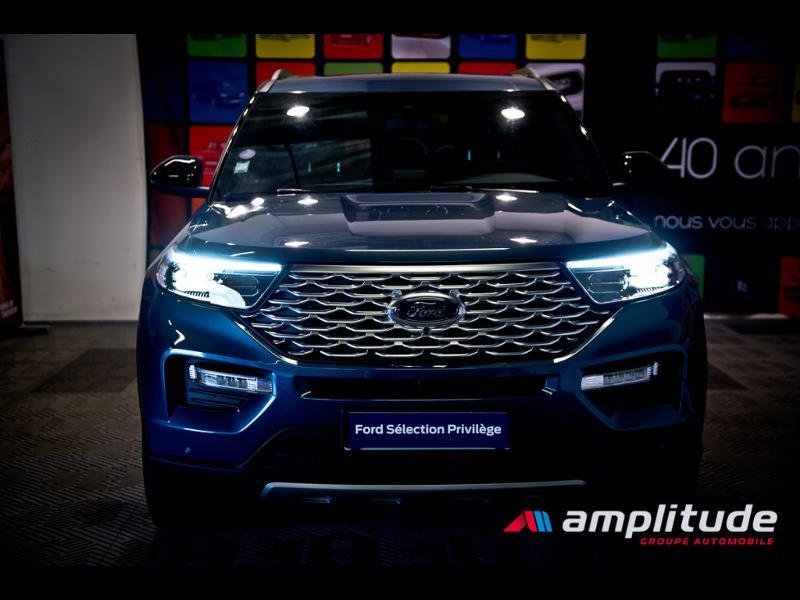 Ford Explorer 3.0 EcoBoost 457ch Parallel PHEV Platinum i-AWD BVA10 25cv Bleu occasion à Dijon - photo n°2