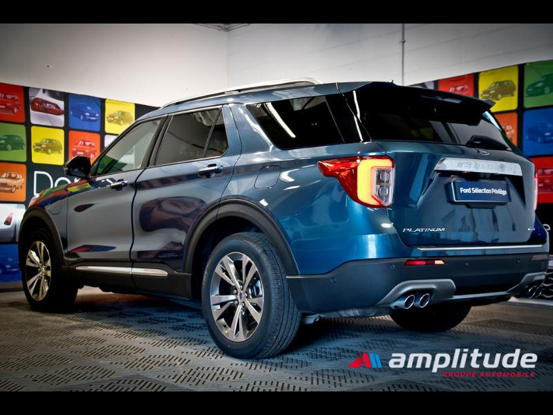 Ford Explorer 3.0 EcoBoost 457ch Parallel PHEV Platinum i-AWD BVA10 25cv Bleu occasion à Dijon - photo n°4