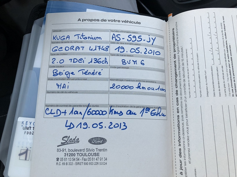 Ford Kuga 2.0 TDCI 136CH DPF TITANIUM 4X2 Gris occasion à TOULOUSE - photo n°9