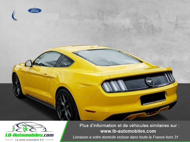 Ford Mustang 2.3 EcoBoost Jaune occasion à Beaupuy - photo n°3