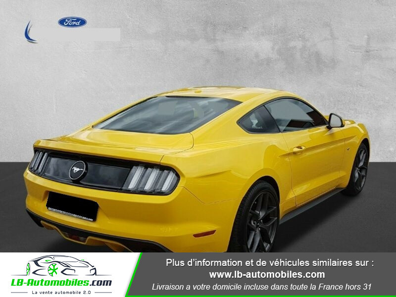 Ford Mustang 2.3 EcoBoost Jaune occasion à Beaupuy - photo n°4