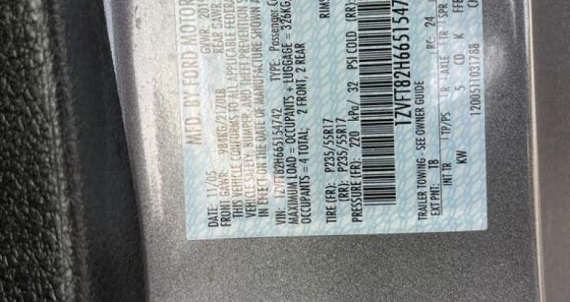 Ford Mustang Gt coupé deluxe prix tout compris hors homologation 4500 ? Gris occasion à Paris - photo n°6