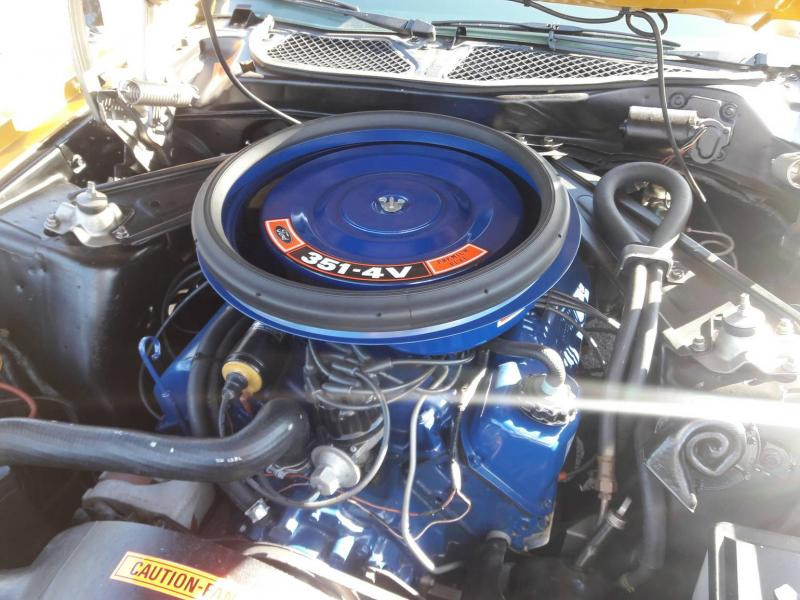 Ford Mustang Mach 1 72 Jaune occasion à BERNAY - photo n°3